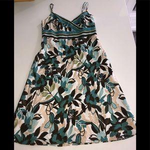 Ann Taylor cotton dress floral 12